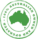 100% Australian Owned and Operated Logo
